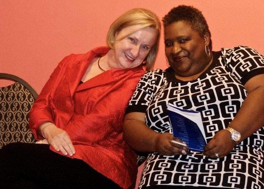 Dr. Rita Kirk and Dr. Maria Dixon at the annual CCPA Awards Reception