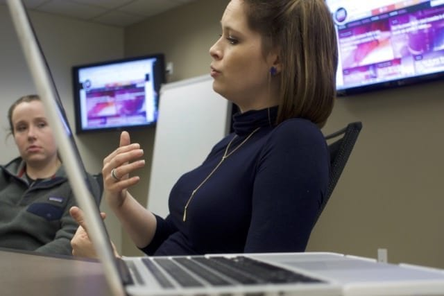 Sarah Blackovich, editor GuideLive, was client in social media class
