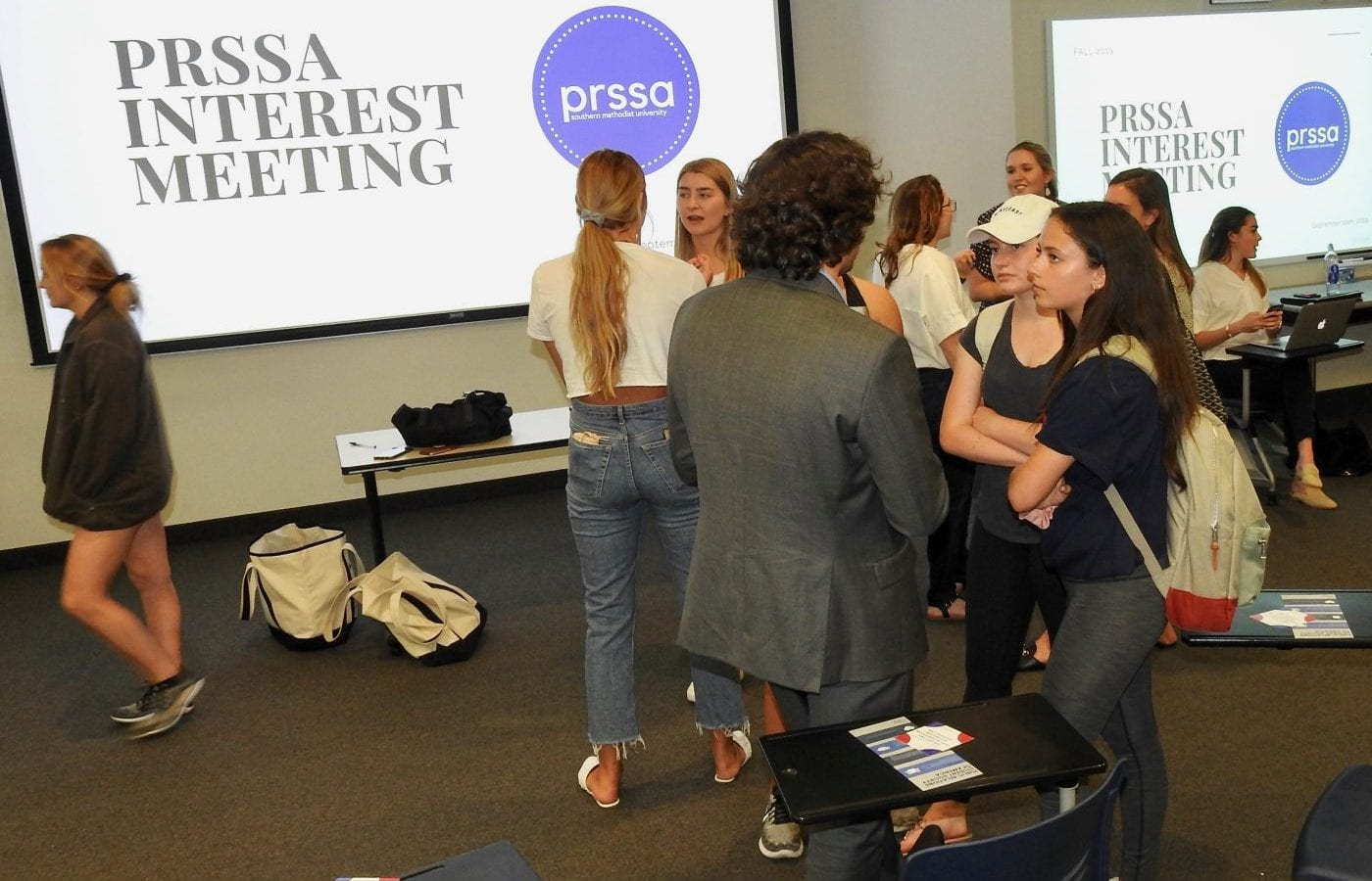 Students at the PRSSA Interest Meeting