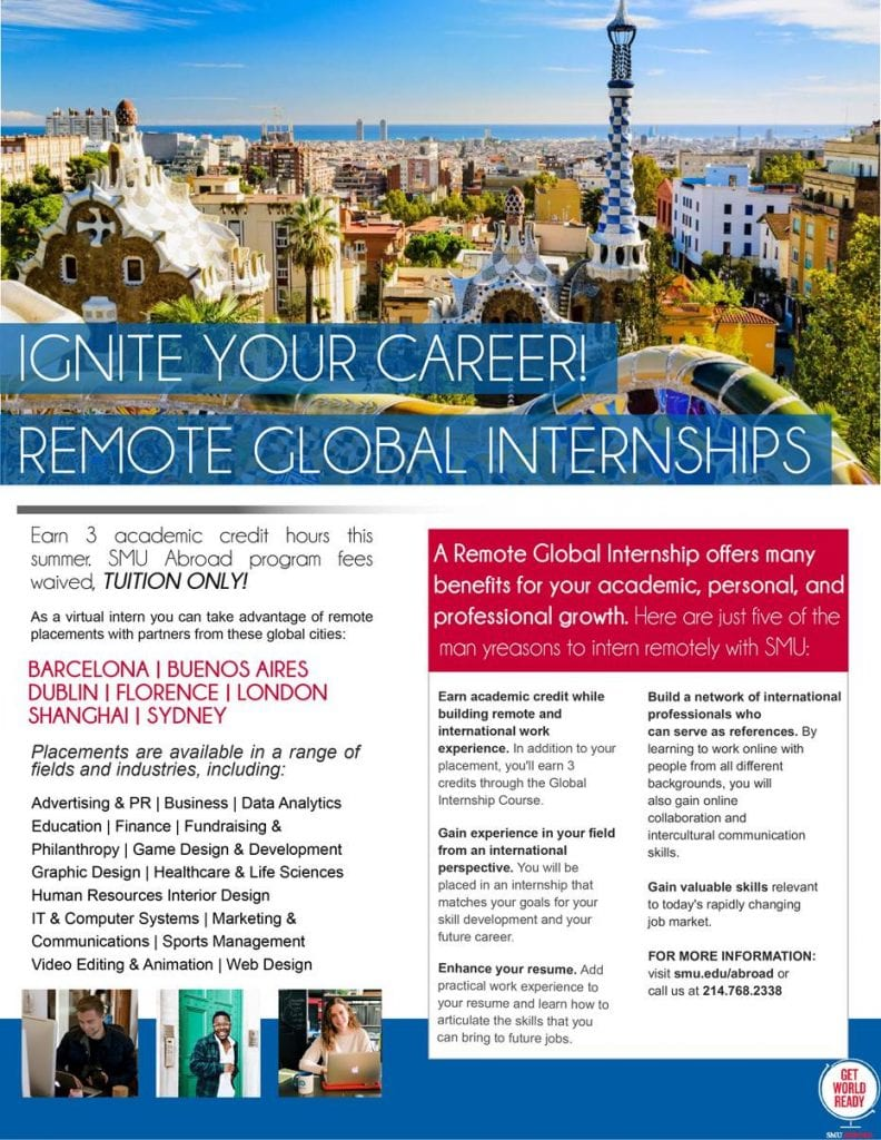 Virtual Smu Abroad Internships Available Apply Now